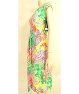 1 Ralph Lauren dress SZ S NWT colorful paisley raglan sleeve jersey - $39.59