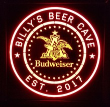 Budweiser  Beer LED Sign Personalized, Home bar pub Sign, Lighted Sign - $65.00