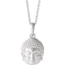"Buddha 16-18"" Necklace In Sterling Silver - $74.24"
