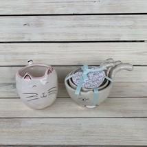 NEW 10 STRAWBERRY STREET CAT MOM MEASURING CUPS & COFFEE MUG SET - $29.69