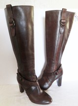 Cole Haan Courtney Air Women's Tall Brown Leather Boot w/Buckles Sz 7 M - $89.99