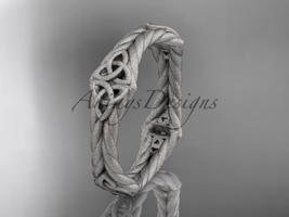 platinum  matte finish rope celtic wedding band RPCT9356G - $995.00