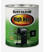 Rust-Oleum HIGH HEAT 1 qt. Satin BBQ Black Tough Protective Enamel 7778-... - $22.99