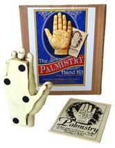 Palmistry Hand Model Resin Sculpture w/ Booklet Fortune Telling Reading ... - $42.17