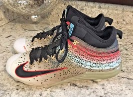 hot sale online 3c749 7b0a8 Nike Mike Trout Lunar 2 Mens Baseball Metal Cleats Flywire Rainbow Skin Size  8 -  58.16