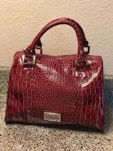 Kenneth Cole Purse red croccidile leather handbag - $16.73