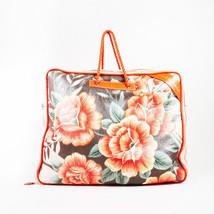 "Balenciaga Orange Multicolor Lambskin Floral Print ""Blanket Square"" Bag - $2,105.00"