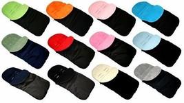 Black Waterproof fleece cosytoes footmuff  for Silver Cross pushchair UK Made