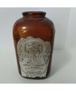Antique Vintage Tobacco Scotch & Rappee Snuff Bottle Levi Garrett & Sons - $11.88