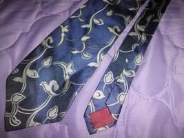 "Vintage Pierre Cardin Paris Neck Tie 100% Silk Blue Green Floral 57"" X 3.75"" - $8.90"
