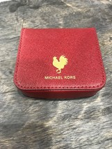Michael Kors Unisex Coin Case in Cardinal Red ( wine tone) Crossgrain Le... - £23.58 GBP