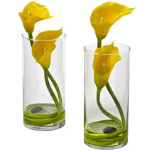 Double Calla Lily w/Cylinder (Set of 2) - $52.69