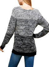 Women's Oversized Long Sleeve Colorful Chunky Knitted Casual Pullover Sweater image 3