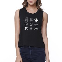 Skulls Womens Black Crop Top - $14.99