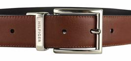 Tommy Hilfiger Men's Premium Reversible Leather Belt Black Tan 11TL08X013 image 4