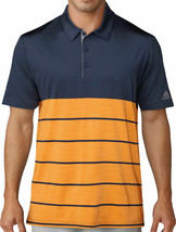 adidas Men Ultimate 365 Heather Stripe Golf Polo Blue Orange CD3385 MSRP... - $36.95