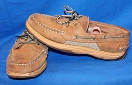 Women's SPERRY INTREPID Slip On Leather Dock Bo... - $19.80