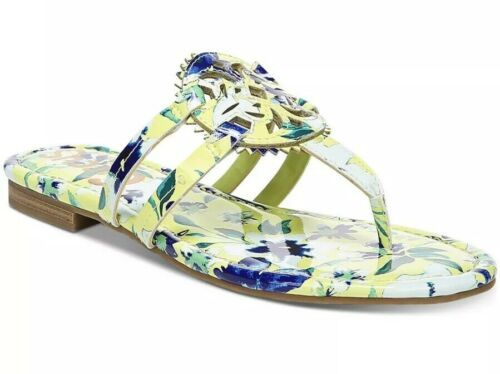CIRCUS BY SAM EDELMAN CANYON MEDALLION FLAT SANDALS SHOE YELLOW BLUE FLORAL 8 M
