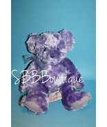 "Russ Girl Power GROOVY GUAVA Purple Teddy Bear 9"" Soft No Scent Bow Stuf... - $22.24"