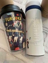 Starbucks Fukuoka Japan Geography Series 25th Tumbler Stainless Bottle s... - $108.78