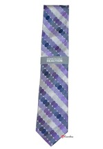 Kenneth Cole Reaction Men's Neck Tie Purple Silver Islip Geo 100% Silk $55 - $22.00