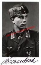 Franz-Josef Beerenbrock signed photo. Luftwaffe Ace.JG-51. 117 kills - $36.00