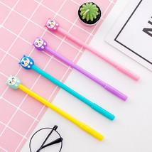 4 pcs Cartoon Owl gel pen Cute design kids gift 0.5mm ballpoint pens Bla... - $41.37