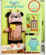 McCalls Pattern K224 3 Playful Laundry Pals For Kids By Ellie Mae Design... - $6.93
