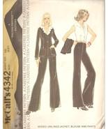 Misses Vintage 70s Unlined Jacket Blouse Pants Pattern Size 10 McCall's ... - $9.99