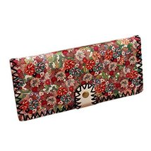 Delicate [Daisy] Clasp Women Wallet Handcraft PU Leather Wallet/Purse(7.83.5'')