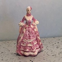 Franklin Mint Ladies Of Fashion Miniature Victorian Porcelain Figurine Caroline - $19.23