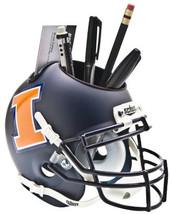 Illinois Fighting Illini (Matte Navy) NCAA Football Schutt Mini Helmet Desk Cadd - $21.95