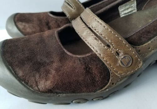 Merrell Performance Plaza Bandeau Chocolate Brown Mary Janes Ortholite Shoes 8 image 7