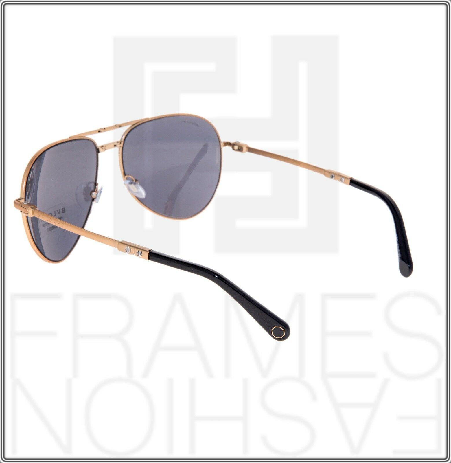 BVLGARI Le Gemme Black Rose Gold 18K Plated POLARIZED Foldable Sunglasses 5034 image 3