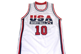 Reggie Miller #10 Team USA Men Basketball Jersey White Any Size image 4