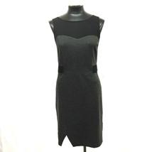 Kensie Dress Sleeveless Illusion Ponte Heather Dark Gray Black Size M My Afc - $41.99