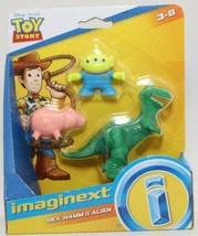 Imaginext Toy Story 4 Disney Pixar Rex, Hamm & Alien 3 figure pack Pig D... - $12.82