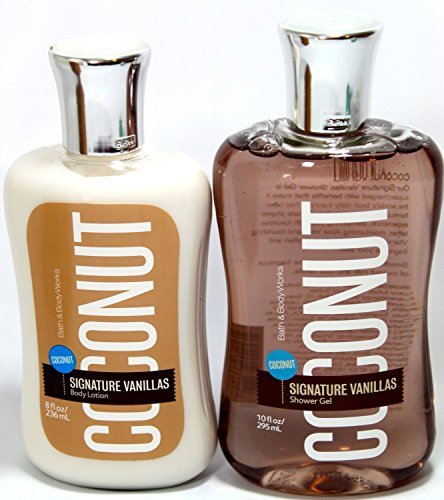 Bath & Body Works COCONUT VANILLA Shower Gel and Body Lotion Gift Set