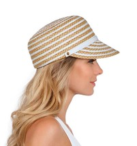 Authentic NWT Eric Javits Fashion Designer Women's Hat - Dame Cap in Whi... - $90.25