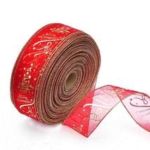Christmas Tree Decorations Ribbons 6.3cm X 200cm Per Roll Christmas Deco... - $6.92