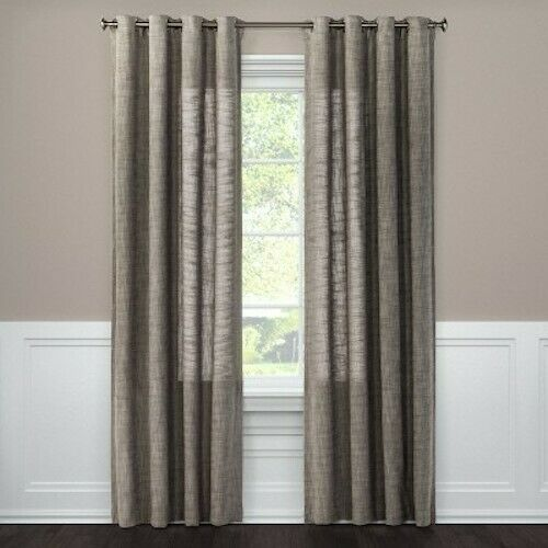 Primary image for Textured Weave Light Filtering Curtain Panel - Threshold Gray