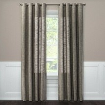 Textured Weave Light Filtering Curtain Panel - Threshold Gray - $17.59