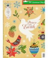 "Christmas Window Clings Peace on Earth Ornaments 11 Clings 11.7"" X 14.5""... - $3.25"