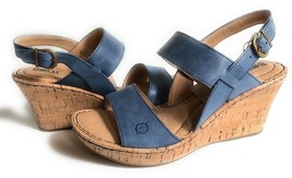 New Born Women Cherry Cork Wedge Leather Sandals Variety Color&Sizes - $98.99