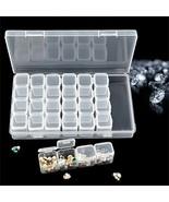 28 Slots Organizer Adjustable Embroidery Diamond Jewelry Storage Box Pla... - $6.05