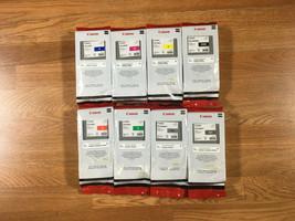 Lot Of 8 Genuine Canon PFI-206 B,M,Y,Mbk,R,G,Pgy,Gy For iPF6400/6450 - $860.31