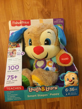 Fisher Price Laugh and Learn Smart Stages Puppy Toddler Learning Toy Stu... - $38.69
