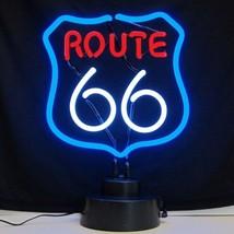 "Vintage Route 66 Handmade Neon Sculpture 12""x12"" - $75.00"
