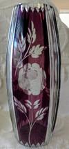 Val St. Lambert, Joseph Simon Designed Amethyst Flashed & Cut Beauty!! - $1,194.92