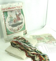 """Dimensions Tree Skirt Cross Stitch Kit """"Toy Collection"""" 46"""" by Barbara Mock 1989 - $27.99"""